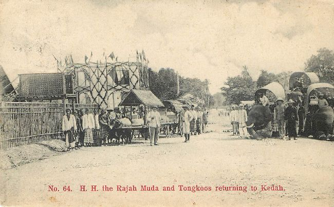 H.H. The Rajah Muda & Tongkoos Return to Kedah Postcard