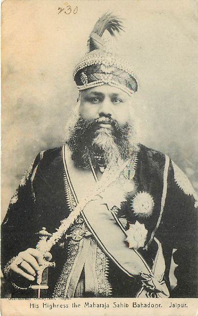 His Highness Maharaja Sahib Bahadoor Jaipur Royal Postcard