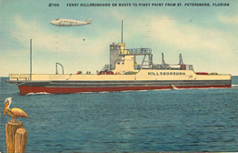 #705 Ferry Hillsborough Boat Postcard