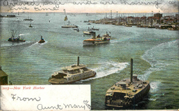 2015 New York Harbor Ferry Boat Postcard