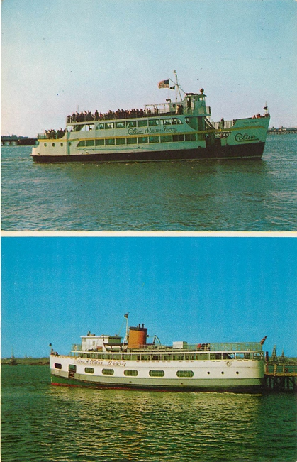 Miss. Liberty and Liberty Ferry Boat Postcard