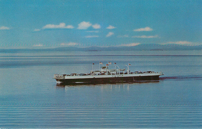 M.V. Valcour Most Scenic Ferry Crossing in N. America Postcard