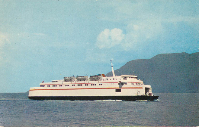 MV CHINOK Ferry Boat carries 100 autos & 1000 People Postcard