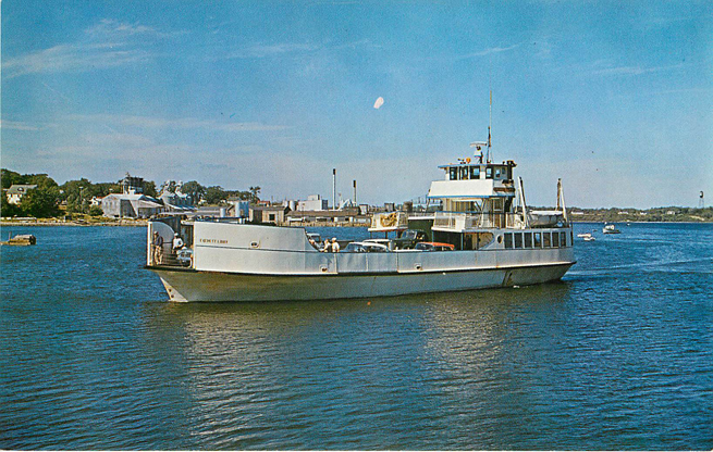 "The Ferry ""Everett Libby"" Boat Postcard"