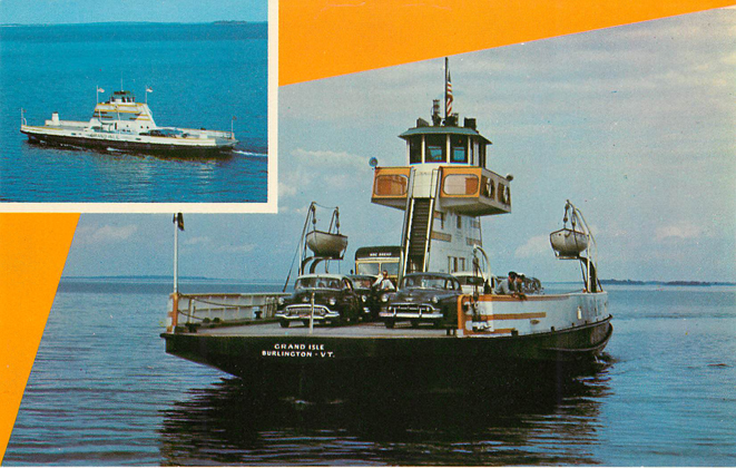 M.V. Grand Isle Ferry Boat Postcard