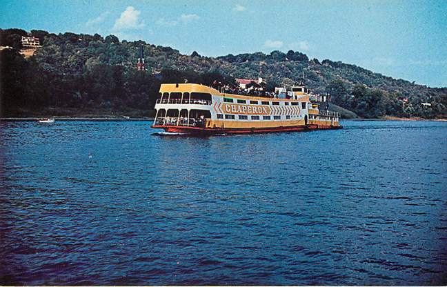 The Johnson Chaperon Ferry Boat Postcard