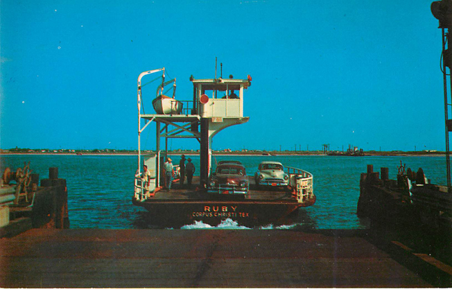 Nueces County Ferry operates 24 Hours Daily Postcard