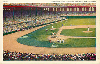 "Baseball Postcard - Comiskey Park, ""Home of the White Sox."""