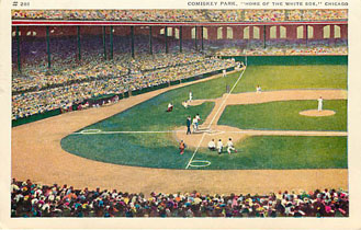 "Baseball Postcard - Comiskey Park, ""Home of the White Sox"""