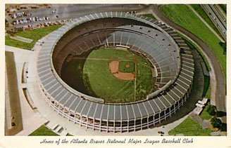 Baseball Postcard - Home of the Atlanta Braves ...