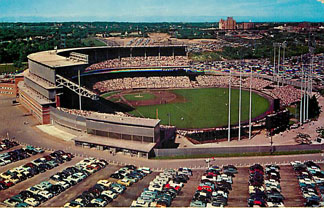 Baseball Postcard - Milwaukee County Stadium