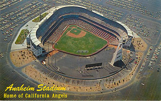 Baseball Postcard - Anaheim Stadium-Home of California Angels