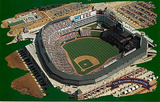 Baseball Postcard - The Ballpark in Arlington