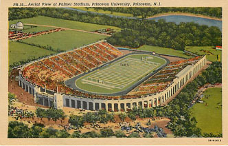 Football Postcard - Aerial View of Palmer Stadium