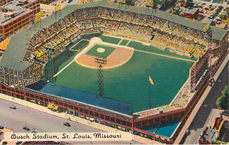 Baseball Postcard - Busch Memorial Stadium, St. Louis, Missouri