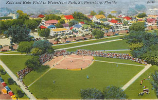 Baseball Postcard - Kids and Kubs Field in Waterfront Park