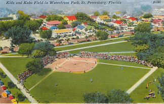 Baseball Postcard - Kids and Kubs Field in Waterfront