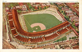 "Baseball Postcard - Wrigley Field, ""Home of the Chicago Cubs"""