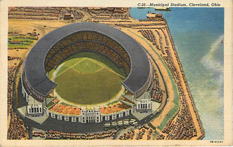 Baseball Postcard - Municipal Stadium, Cleveland, Ohio