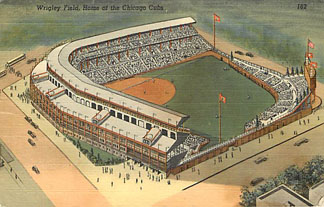 Baseball Postcard - Wrigley Field, Home of the Chicago Cubs