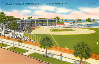 Baseball Postcard - Al Land Field, St. Petersburg, Fla.