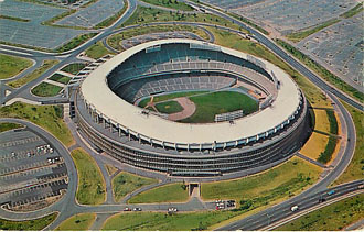 Baseball Postcard-D. C. Stadium-Washington Redskins and Senators