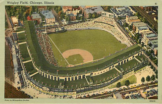 Baseball Postcard - Wrigley Field, Chicago, Illinois