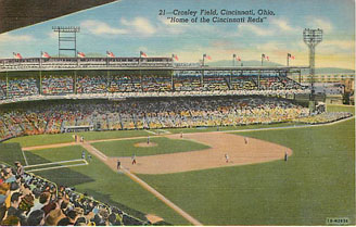 Baseball Postcard - Crosley Field, Cincinnati, Ohio