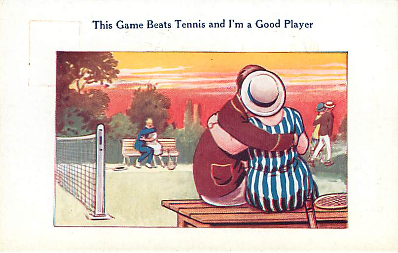 This Game Beats Tennis and Im a Good Player - Postcard