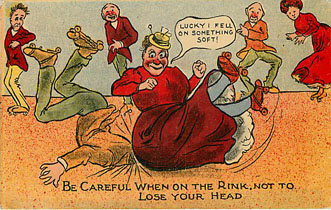 E.L.P. Co. Series Roller Skating Postcard - Dont Lose your HEAD!