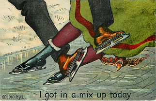 Ice Skating Postcard - I got in a mix up today!