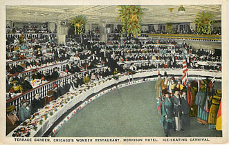 Terrace Garden Ice Skating Carnival Postcard