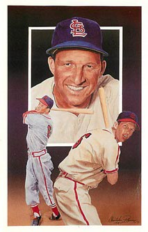 Legends Sports Memorabilia Baseball Postcard Stan Musial