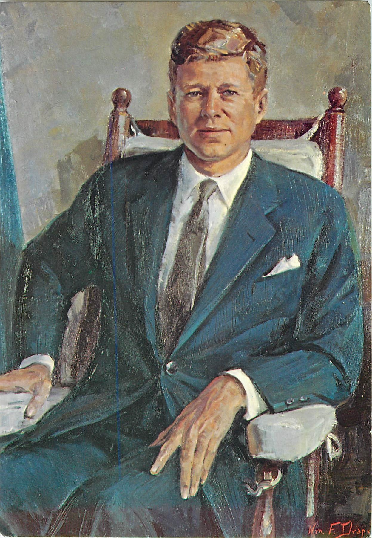 """John F. Kennedy by William Franklin Draper"""
