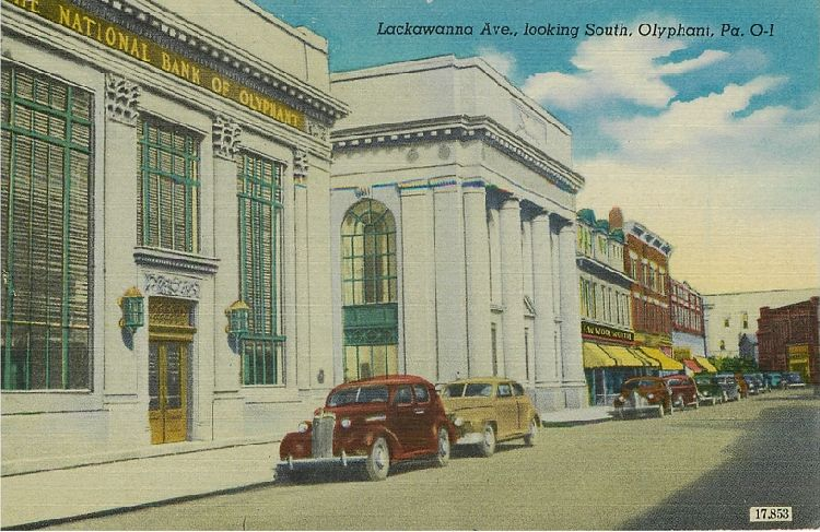 Lackawanna Ave., looking South, Olyphant, Pa.