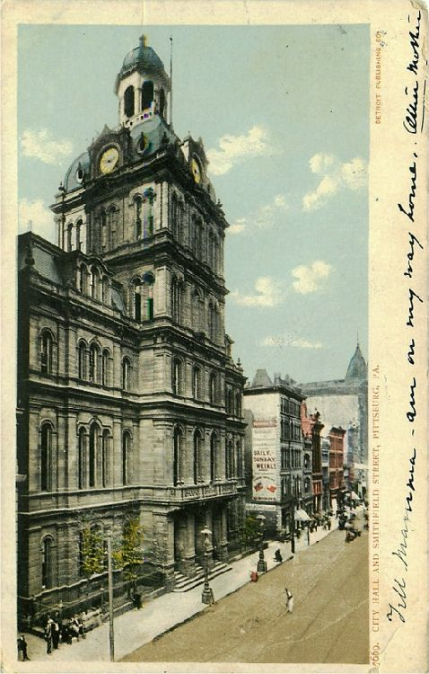 City Hall and Smithfield Street, Pittsburg, Pa.