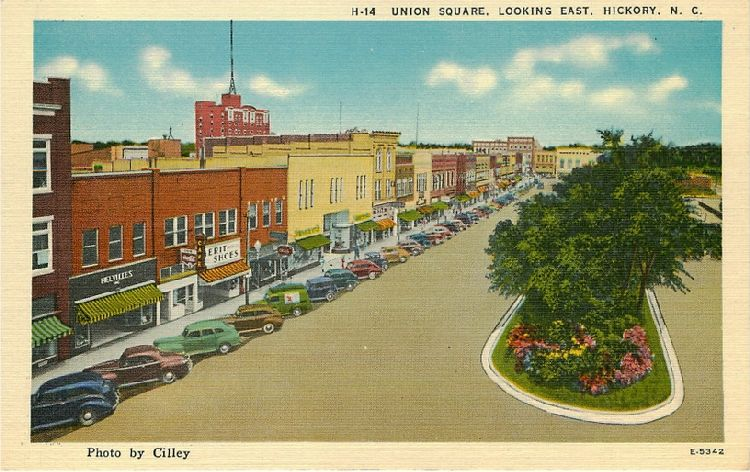 Union Square. Looking East. Hickory, N.C.
