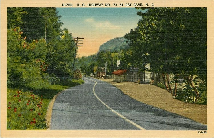 U.S. Highway No. 74 at Bat Cave, N.C.