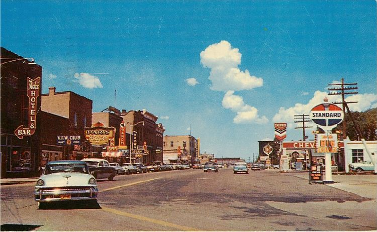 Looking West on Front Street - Evanston, Wyoming