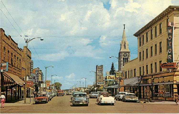 Laramie, Wyo. - On U.S. Hiway 30. 3rd Street Looking North