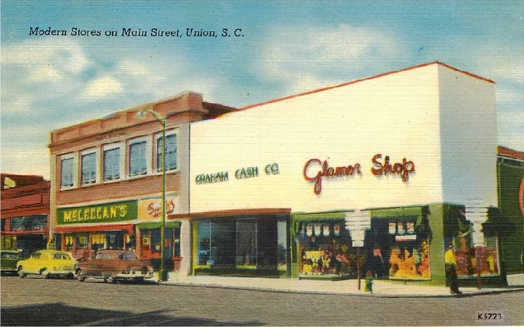 Modern Stores on Main Street, Union, S.C.