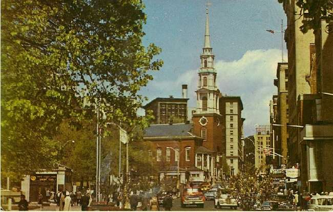 Tremont Street and Boston Common Mall - Boston, Mass.