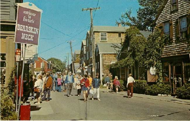 Entrance to Historic Bearskin Neck, Rockport, Massachusetts