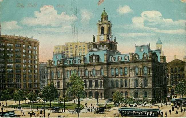City Hall, Detroit, Mich.