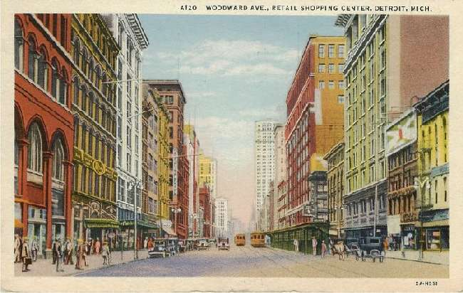 Woodward Ave., Retail Shopping Center, Detroit, Mich.