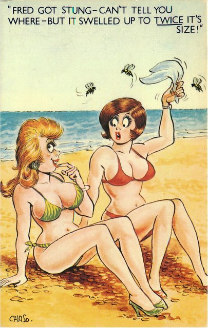 """Beach"" Bamforth Comic Postcard"