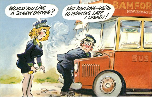 """Bus Driver"" Bamforth Comic"