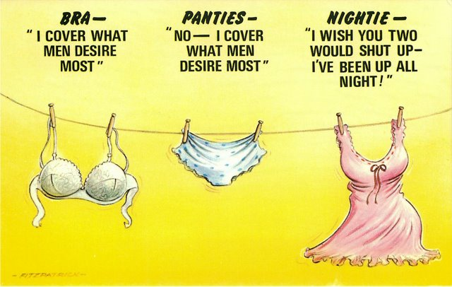 """Bras, Panties and Nightie"" Bamforth Comic"