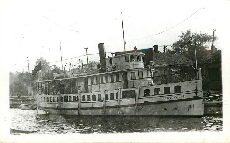 """Brockville"" of Brockville Navigation Co. - Built Toronto 1898"