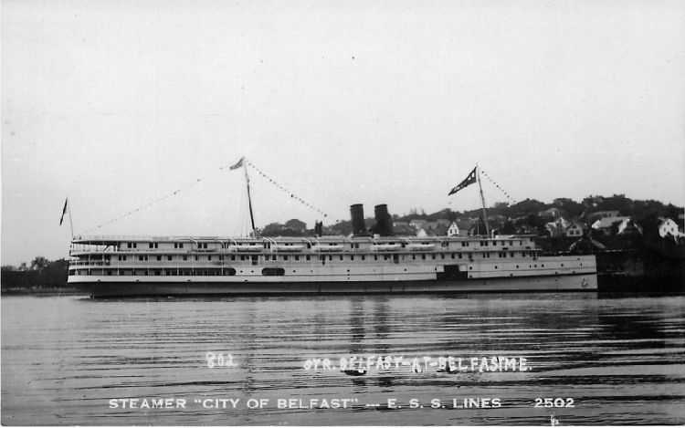 "Steamer ""City of Belfast"" - E.S.S. Lines - No. 2502"